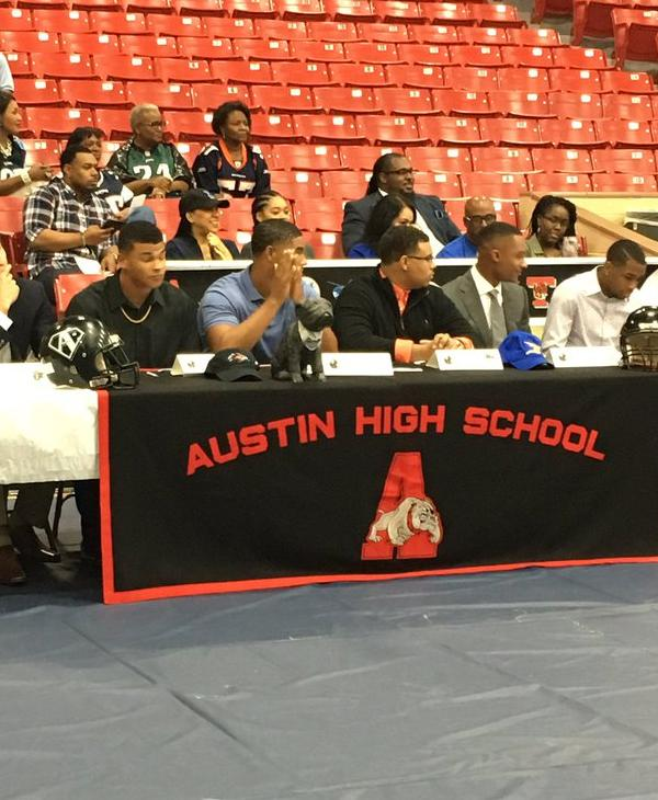 <div class='meta'><div class='origin-logo' data-origin='KTRK'></div><span class='caption-text' data-credit=''>The athletes from Austin High School get ready to make their college choices.</span></div>