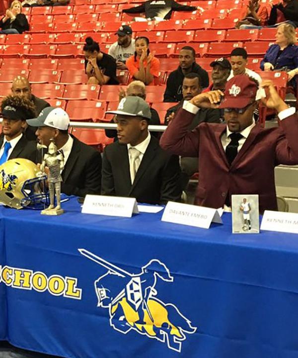 <div class='meta'><div class='origin-logo' data-origin='KTRK'></div><span class='caption-text' data-credit=''>Elkins High School athletes celebrate National Signing Day.</span></div>