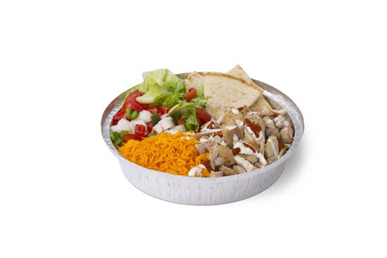 <div class='meta'><div class='origin-logo' data-origin='none'></div><span class='caption-text' data-credit='Photo/The Halal Guys'>The Halal Guys chicken platter featuring red and white sauce. The red sauce has a Tabassco-style vinegar base with a heavy chili punch.</span></div>
