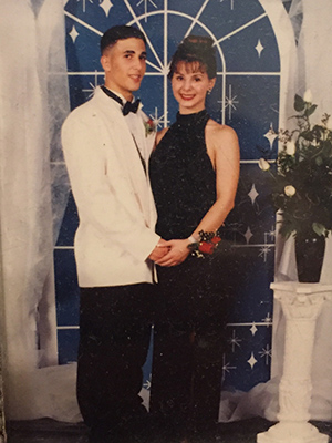 <div class='meta'><div class='origin-logo' data-origin='none'></div><span class='caption-text' data-credit=''>David Nuno and his now wife, 1995</span></div>