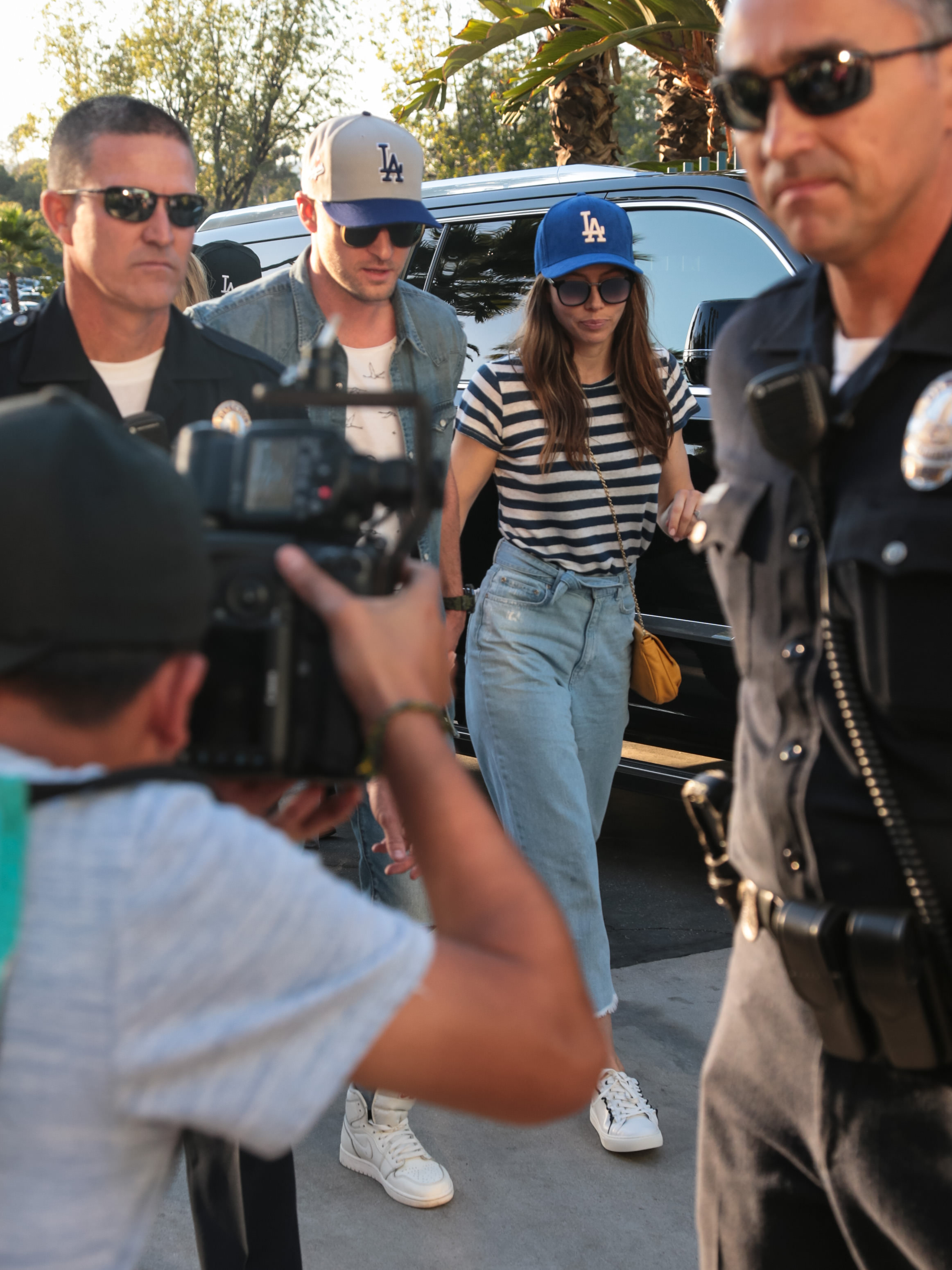 """<div class=""""meta image-caption""""><div class=""""origin-logo origin-image none""""><span>none</span></div><span class=""""caption-text"""">Justin Timberlake and Jessica Biel are seen arriving at game two of the World Series. (Getty Images)</span></div>"""