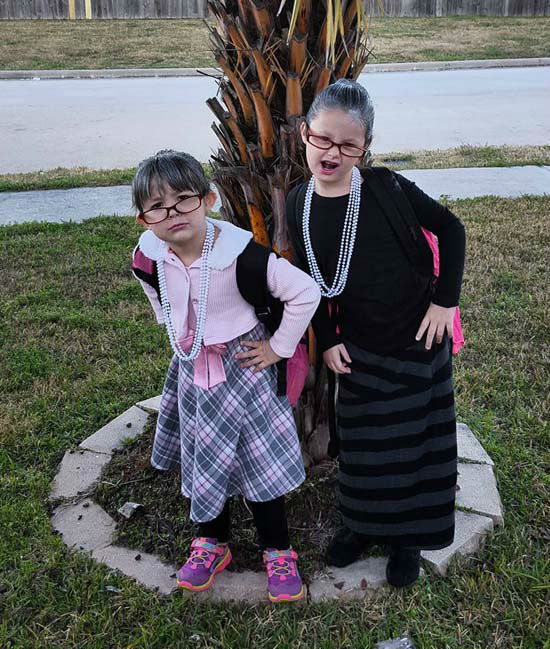 <div class='meta'><div class='origin-logo' data-origin='none'></div><span class='caption-text' data-credit='KTRK Photo'>Today is the 100th day of school and students celebrated by showing off their 100-year old looks.</span></div>