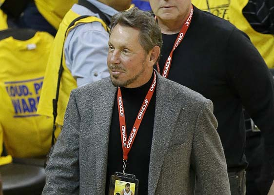 "<div class=""meta image-caption""><div class=""origin-logo origin-image none""><span>none</span></div><span class=""caption-text"">Oracle CEO Larry Ellison arrives at an opening-round NBA basketball playoff series between the Golden State Warriors and the Los Angeles Clippers. (AP Photo/Jeff Chiu, file) (AP)</span></div>"