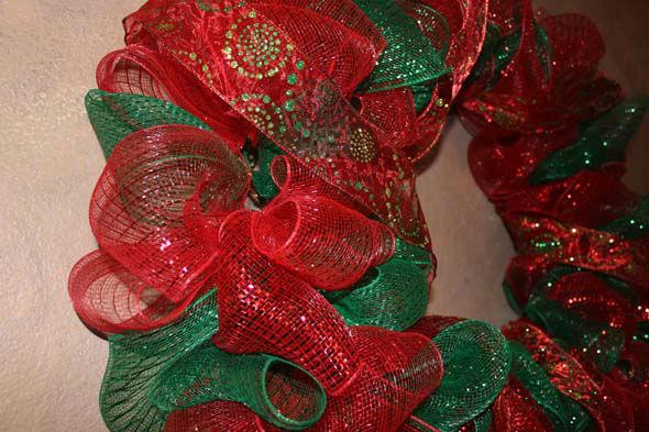 Diy Christmas Mesh Wreath Abc13 Com