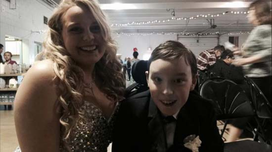"<div class=""meta image-caption""><div class=""origin-logo origin-image ktrk""><span>KTRK</span></div><span class=""caption-text"">Brittany Klocke missed her Senior Prom to attend a school dance with Andrew Shumway</span></div>"
