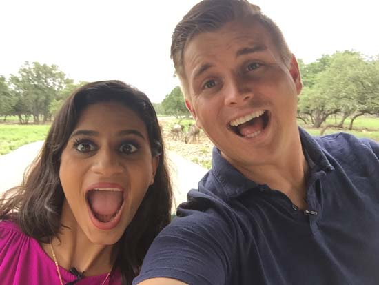 <div class='meta'><div class='origin-logo' data-origin='KTRK'></div><span class='caption-text' data-credit=''>Eyewitness News reporters Pooja Lodhia and Steve Campion head out on a safari at the Natural Bridge Wildlife Ranch</span></div>