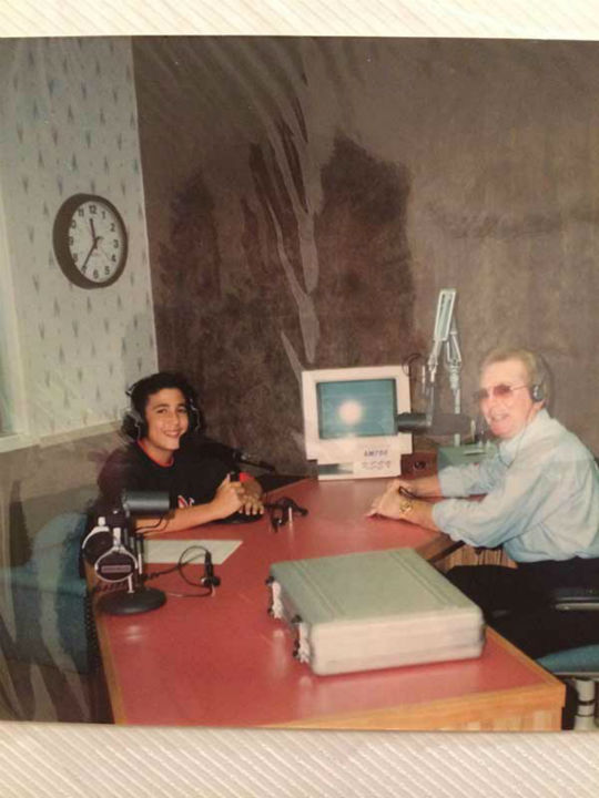 "<div class=""meta image-caption""><div class=""origin-logo origin-image none""><span>none</span></div><span class=""caption-text"">ABC13 sports reporter David Nuno during his first radio interview in 1988. (Photo/David Nuno)</span></div>"