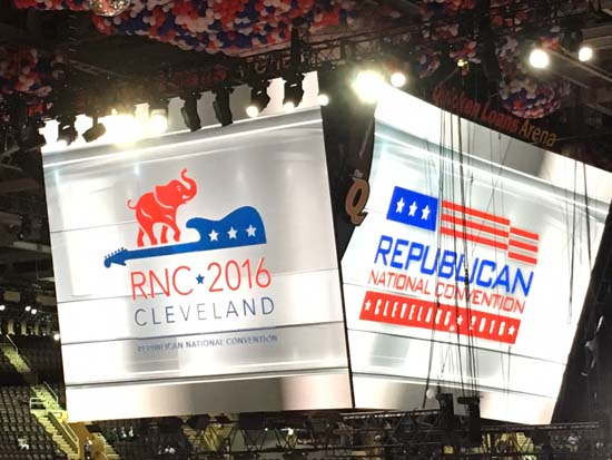 <div class='meta'><div class='origin-logo' data-origin='KTRK'></div><span class='caption-text' data-credit=''>The Republican National Convention kicks off inside Quicken Loans Arena in Cleveland</span></div>