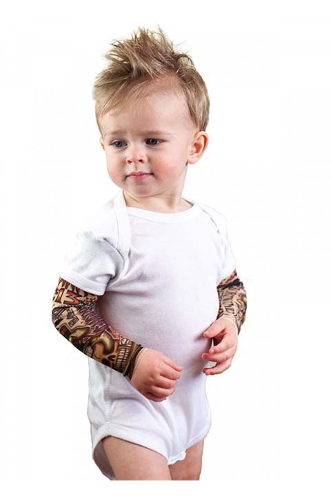"""<div class=""""meta image-caption""""><div class=""""origin-logo origin-image none""""><span>none</span></div><span class=""""caption-text"""">A mother of four has created a line of tattoo sleeves for babies and toddlers. (TotTude)</span></div>"""