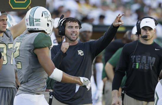 "<div class=""meta image-caption""><div class=""origin-logo origin-image ap""><span>AP</span></div><span class=""caption-text"">Art Briles' son, Kendal Briles is the Baylor offensive coordinator and a UH alum ((AP Photo/LM Otero))</span></div>"