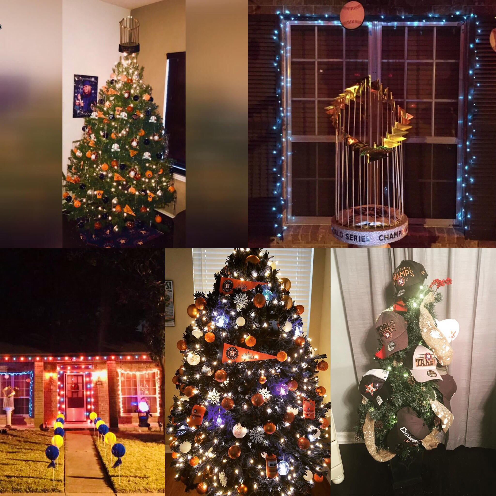 Home run holiday fans share astros themed christmas for Home decorations fan