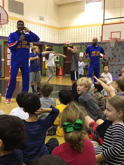 "<div class=""meta image-caption""><div class=""origin-logo origin-image none""><span>none</span></div><span class=""caption-text"">Harlem Globetrotters visited FrostWood Elementary to present the ABC's of bullying prevention and have a little fun too.</span></div>"