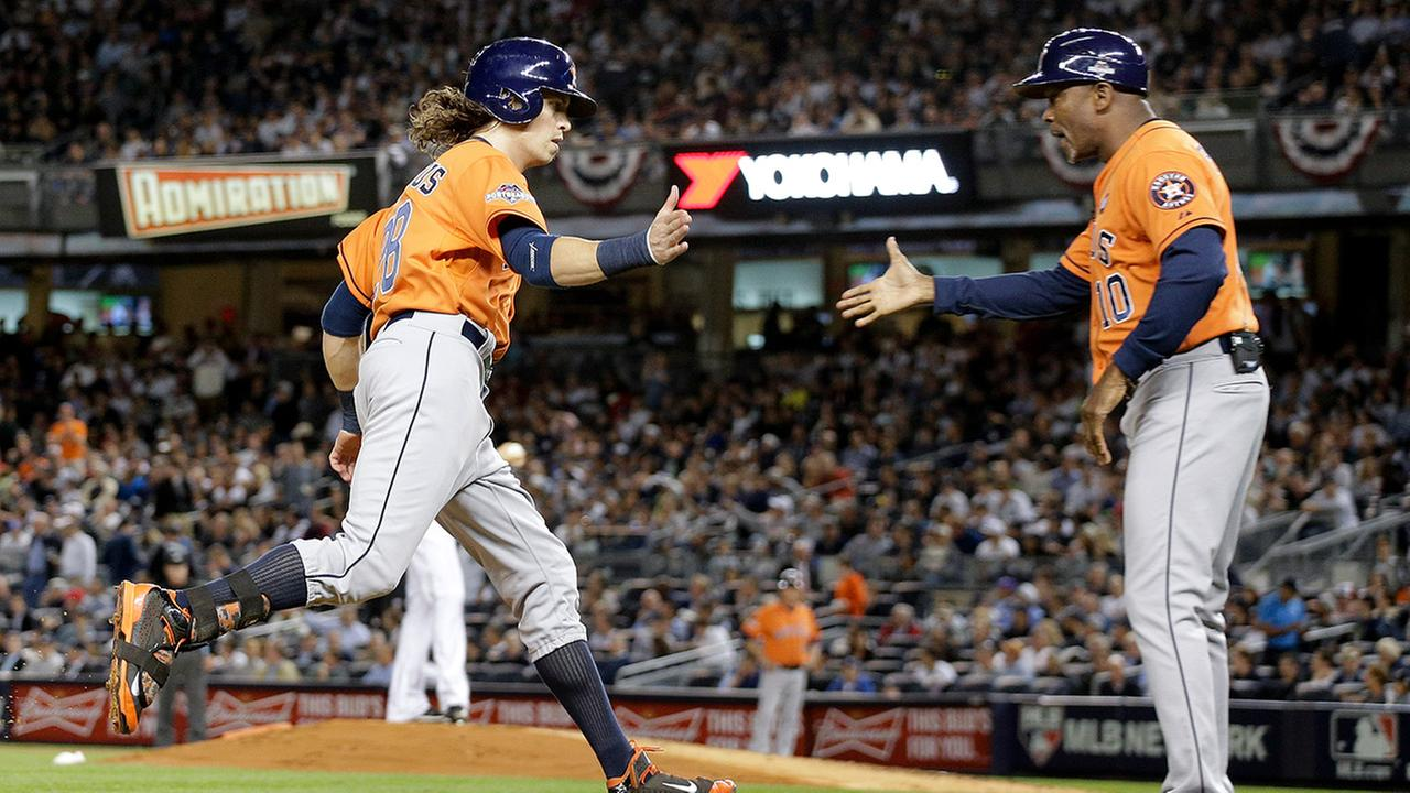 Colby Rasmus second-inning blast gave the Astros an early lead over New York in the wild-card game.