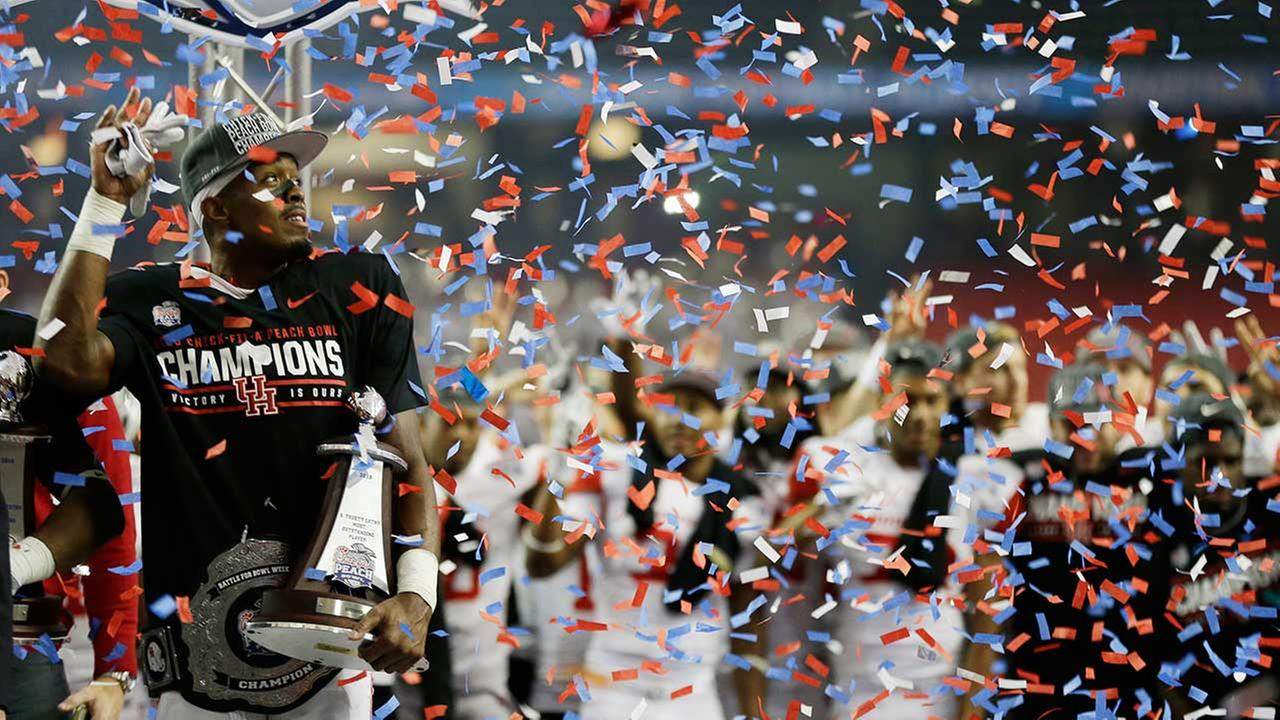 As part of their spectacular season, Houston beat favored Florida State in the Chick-fil-A Peach Bowl on New Years Eve.