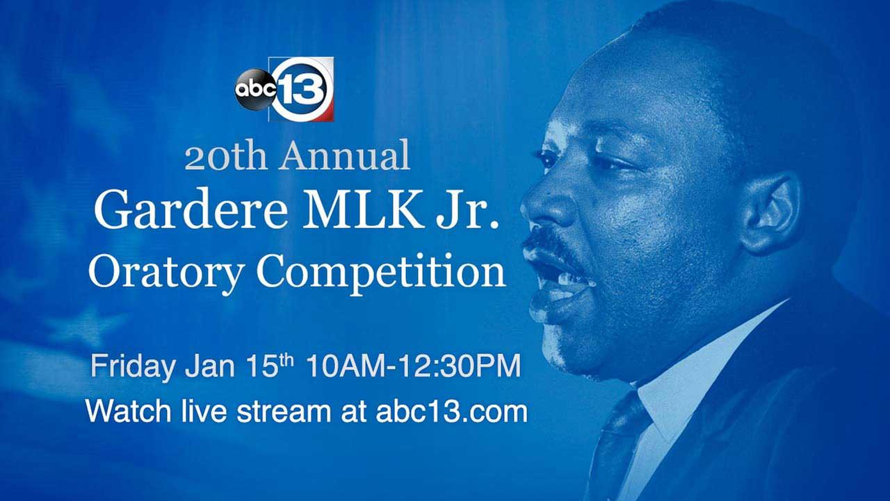 WATCH LIVE: 20th Annual Gardere MLK Jr. Oratory Competition