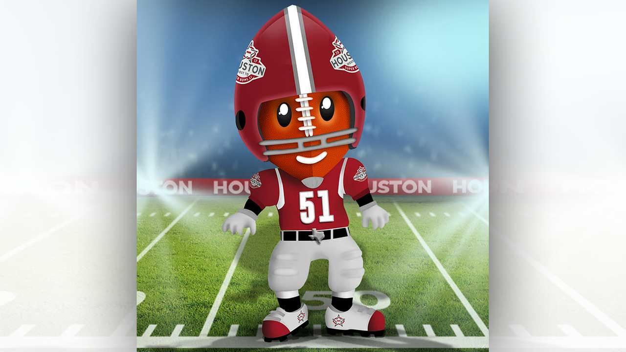 Meet 'TD' -- the Houston Super Bowl Committee's mascot