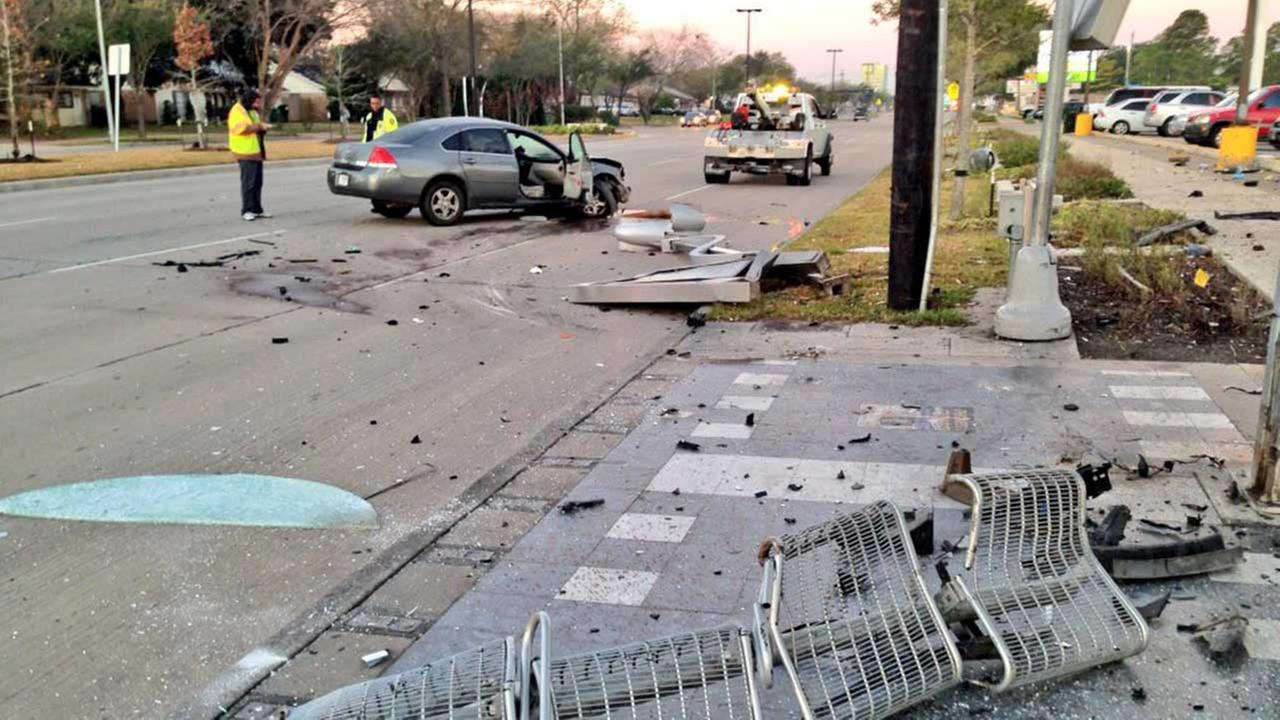 Southwest Houston bus stop accident
