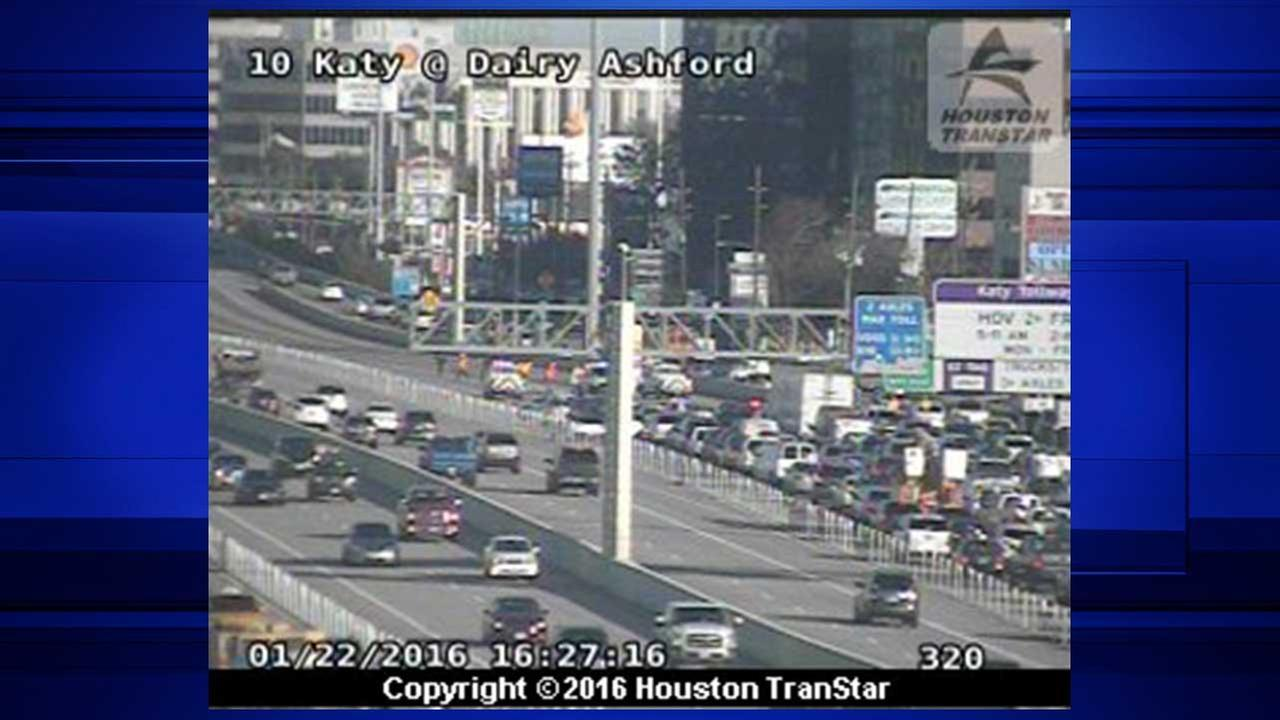 All eastbound lanes of I-10 at Dairy Ashford shut down due to road debris
