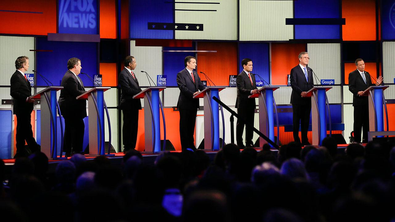 The GOP presidential debate in Des Moines, Iowa on January 28, 2016.