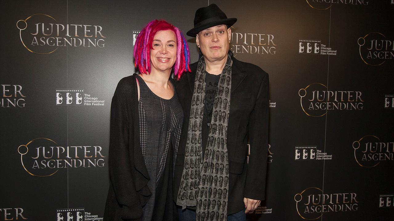 Lana Wachowski and Andy Wachowski seen at the Chicago International Film Festivals screening of Jupiter Ascending at the AMC River East theater, on Wednesday, February 4, 2014.