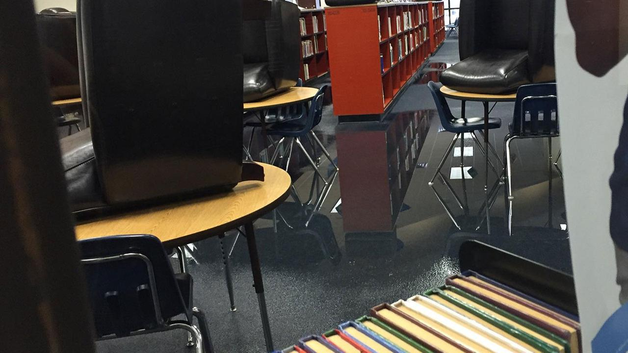 Katy ISD school takes in water during early-morning storms