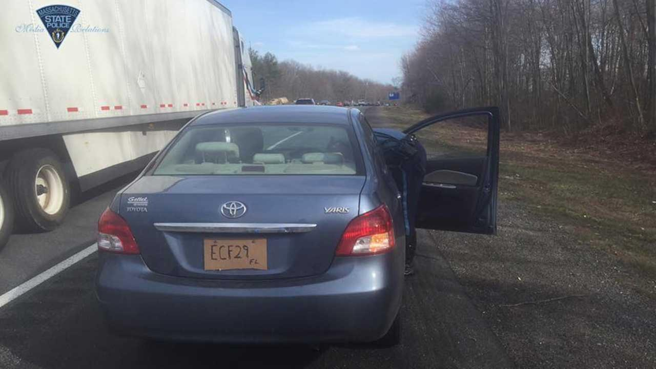 Woman arrested after fairly obvious license plate violation