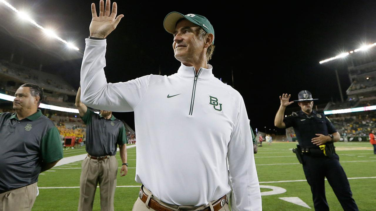 Art Briles spent 8 seasons at Baylor, after coming from the University of Houston.