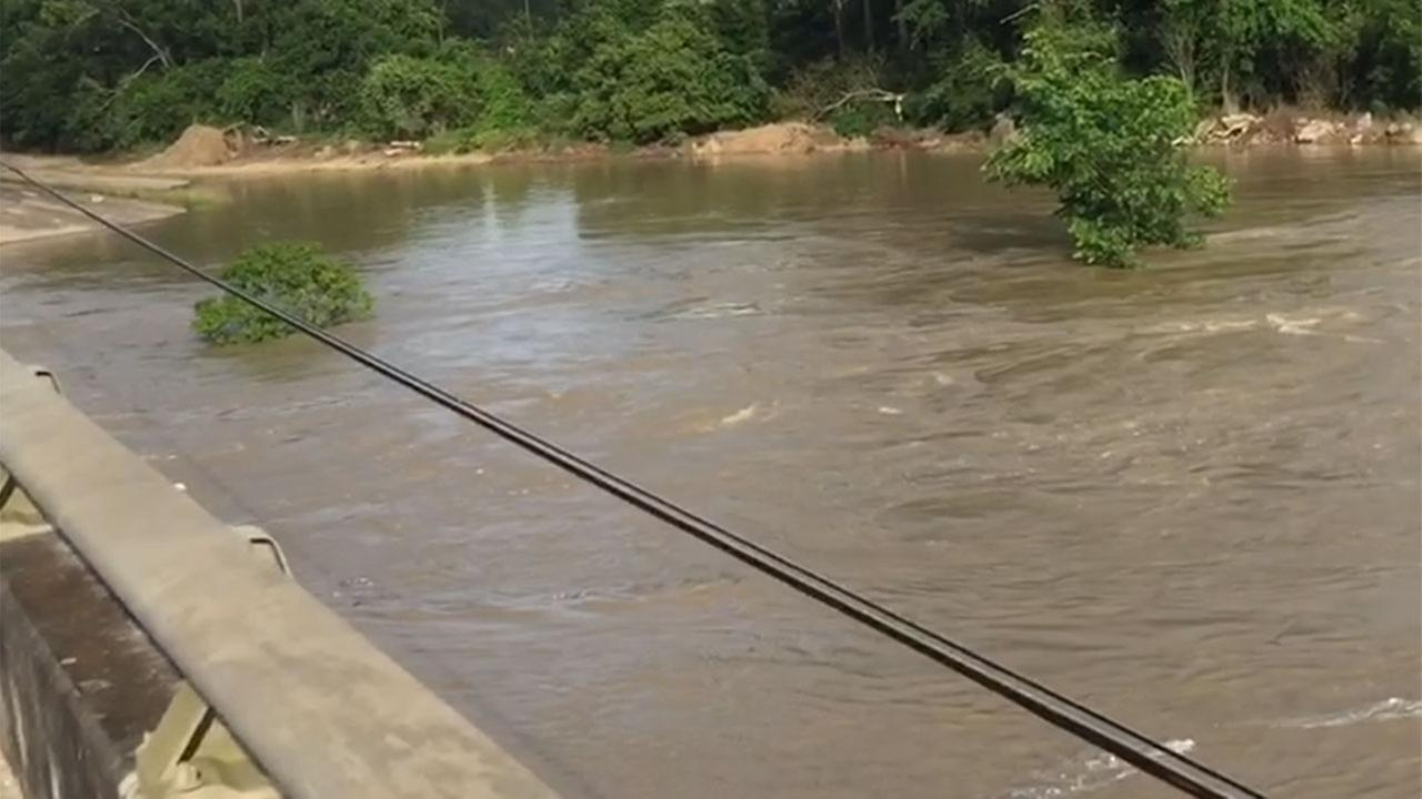 The San Jacinto River is rising, and officials are warning residents along the West Fork of the San Jacinto Near Kingwood