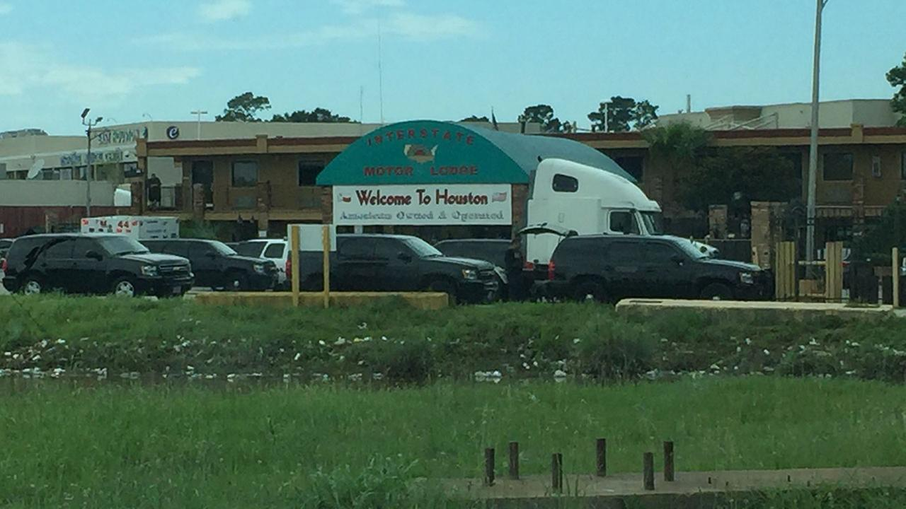 A viewer snapped this photo of the motel where a SWAT standoff is underway.