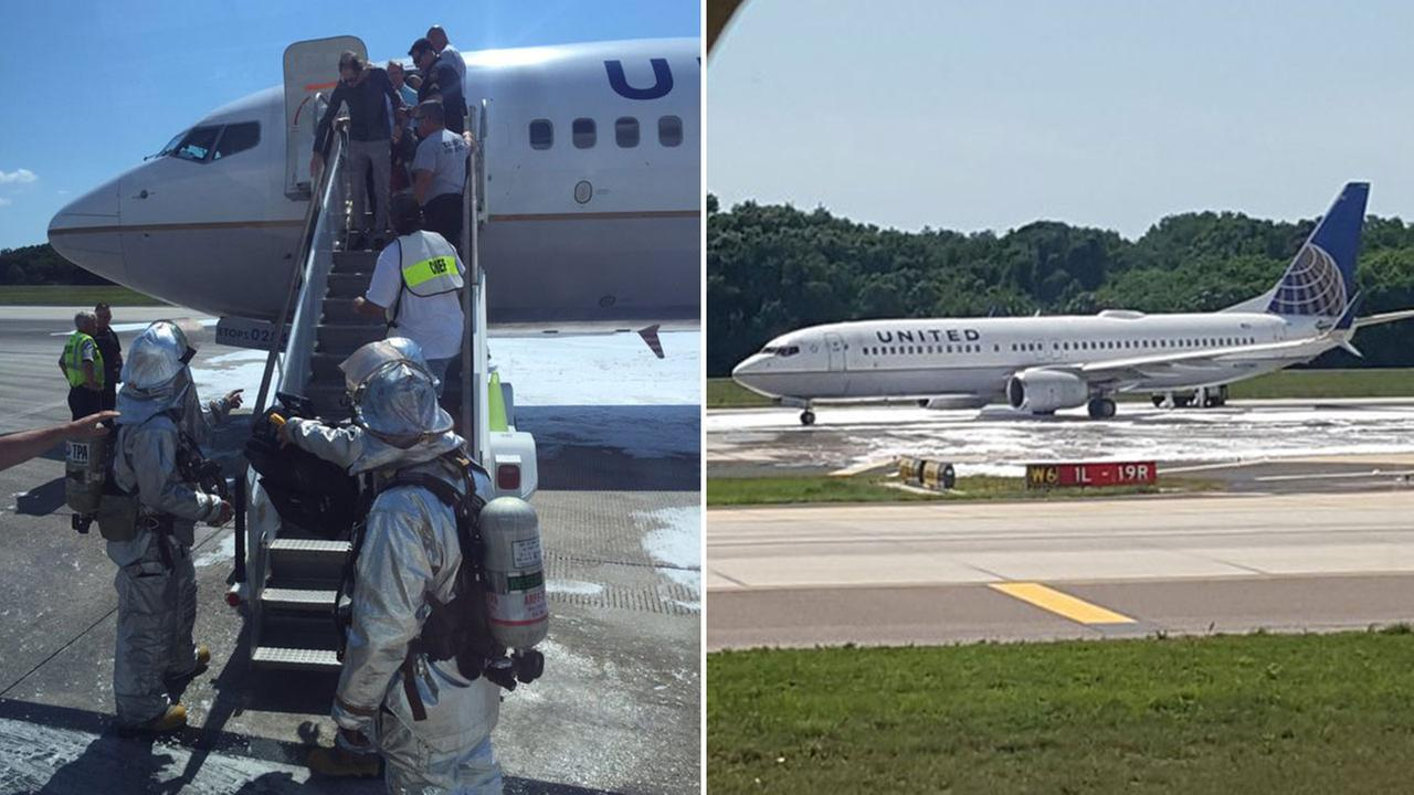 Passengers were tweeting photos shortly after it happened Monday afternoon.