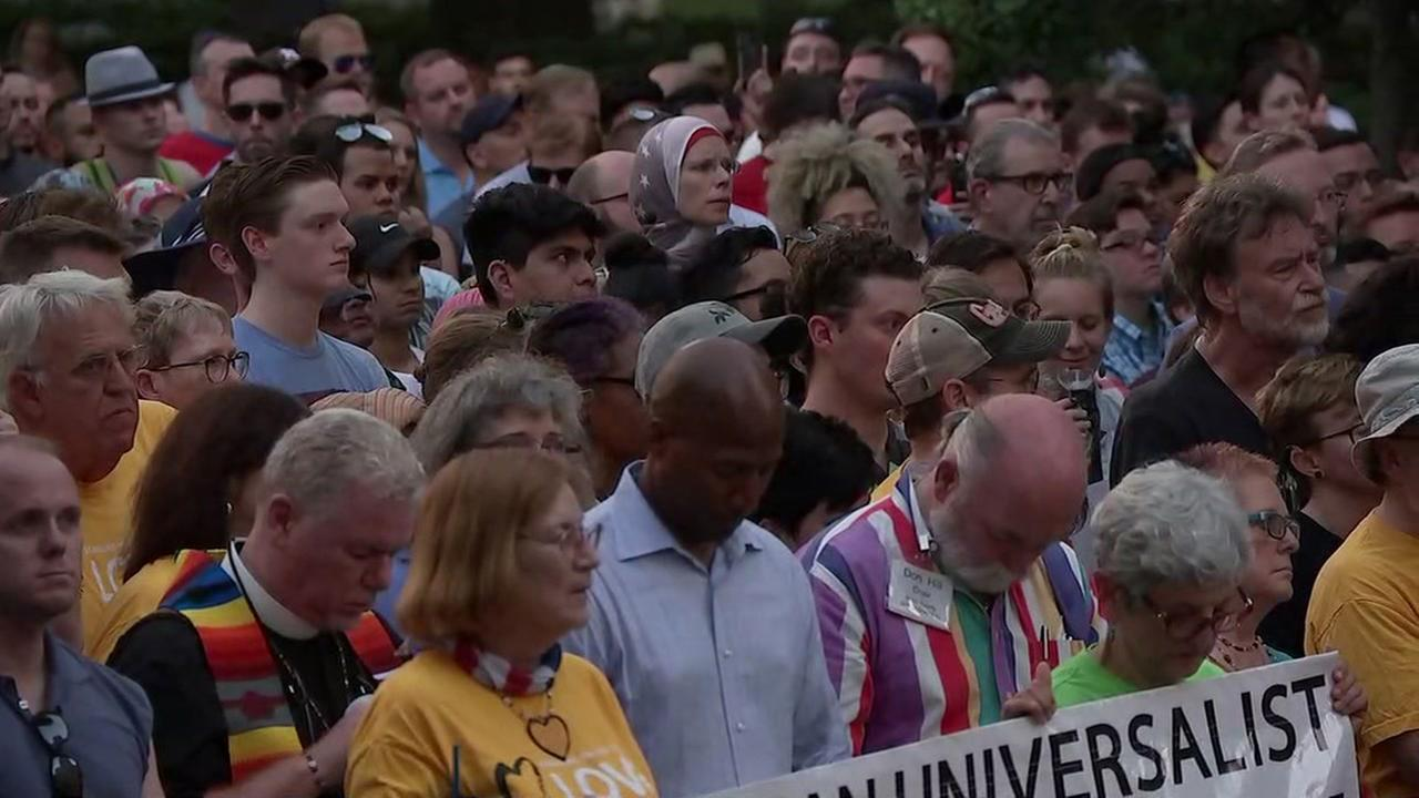 Love, hope fill air at Houston vigil for Orlando victims