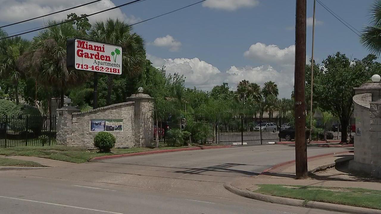 Murder scene in northwest Houston