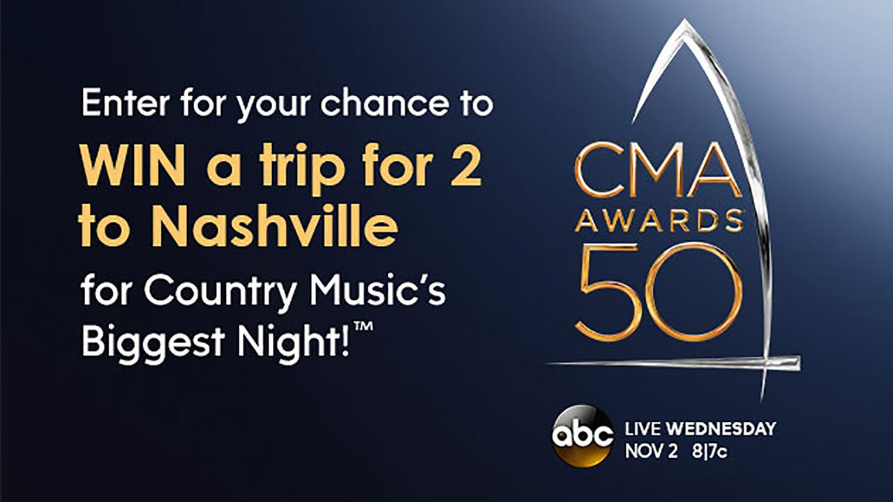 You could win a trip  to the CMA Awards