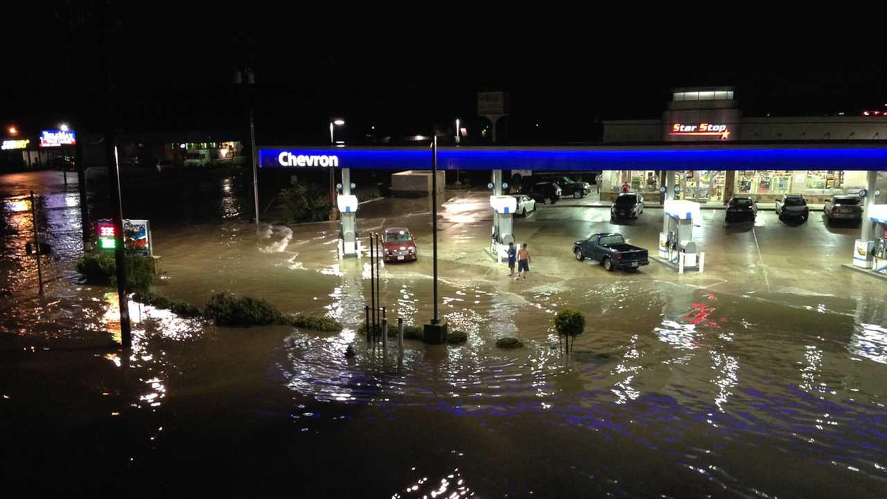 Steve Campion shot this photo from the North Freeway and West Mount Houston
