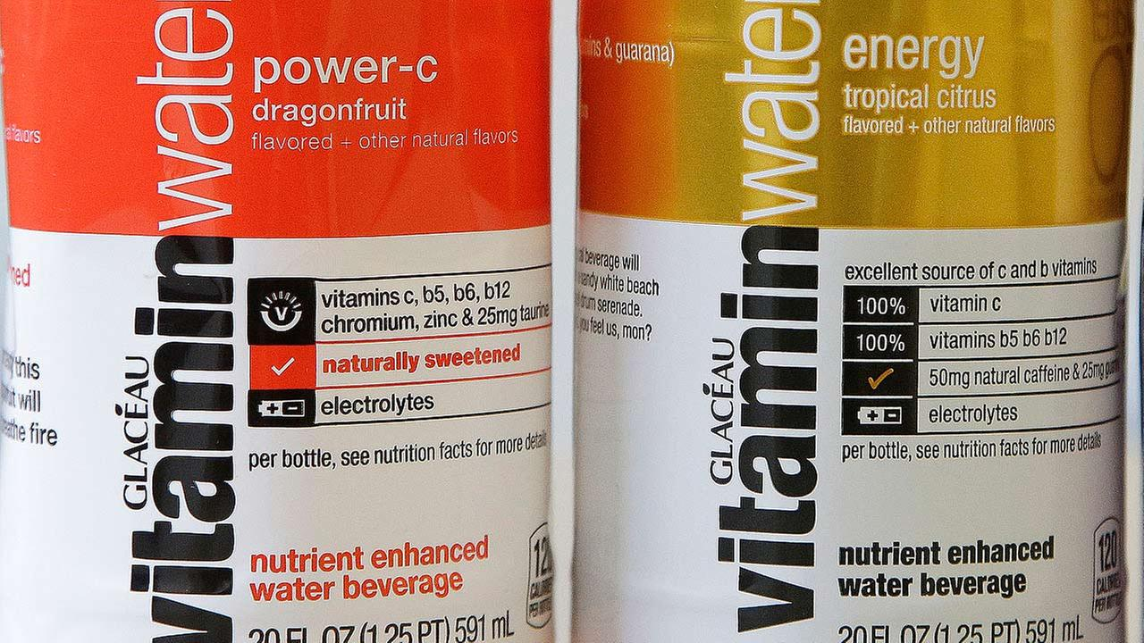 Bottles of the Coca-Cola companys Vitaminwater drinks