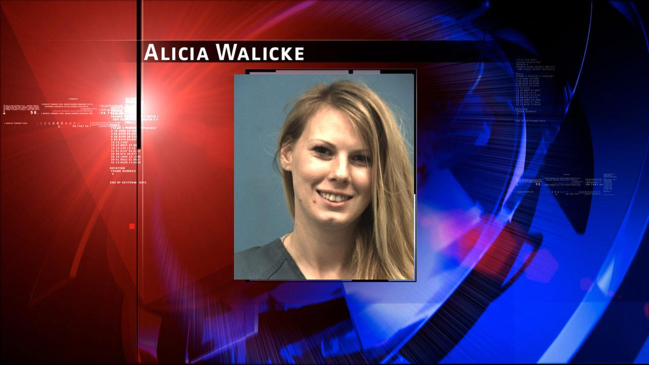 Alicia Walicke, 22, is charged with theft