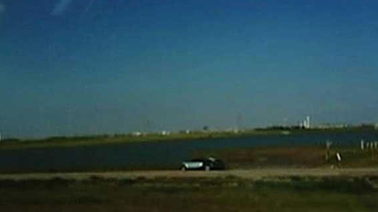 The accident was captured on video