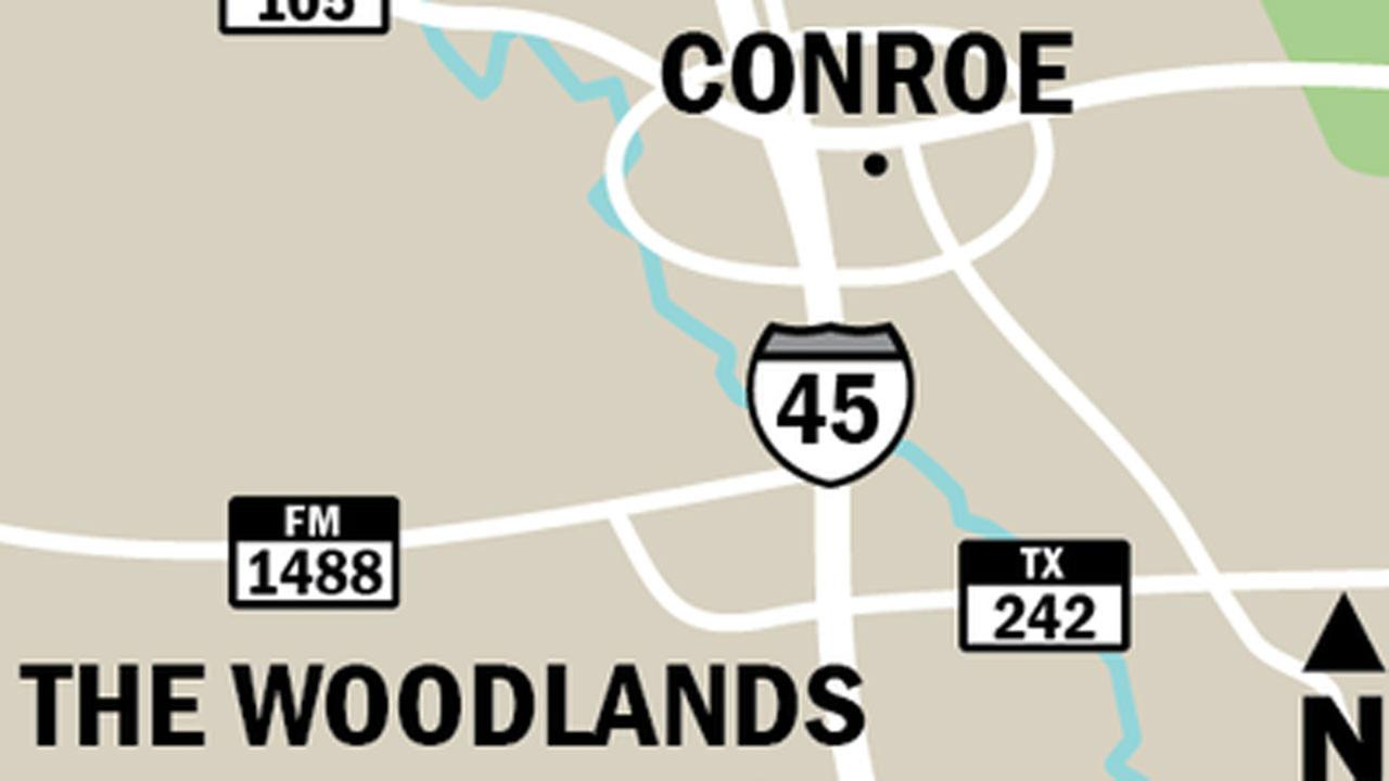 Map of Conroe and The Woodlands