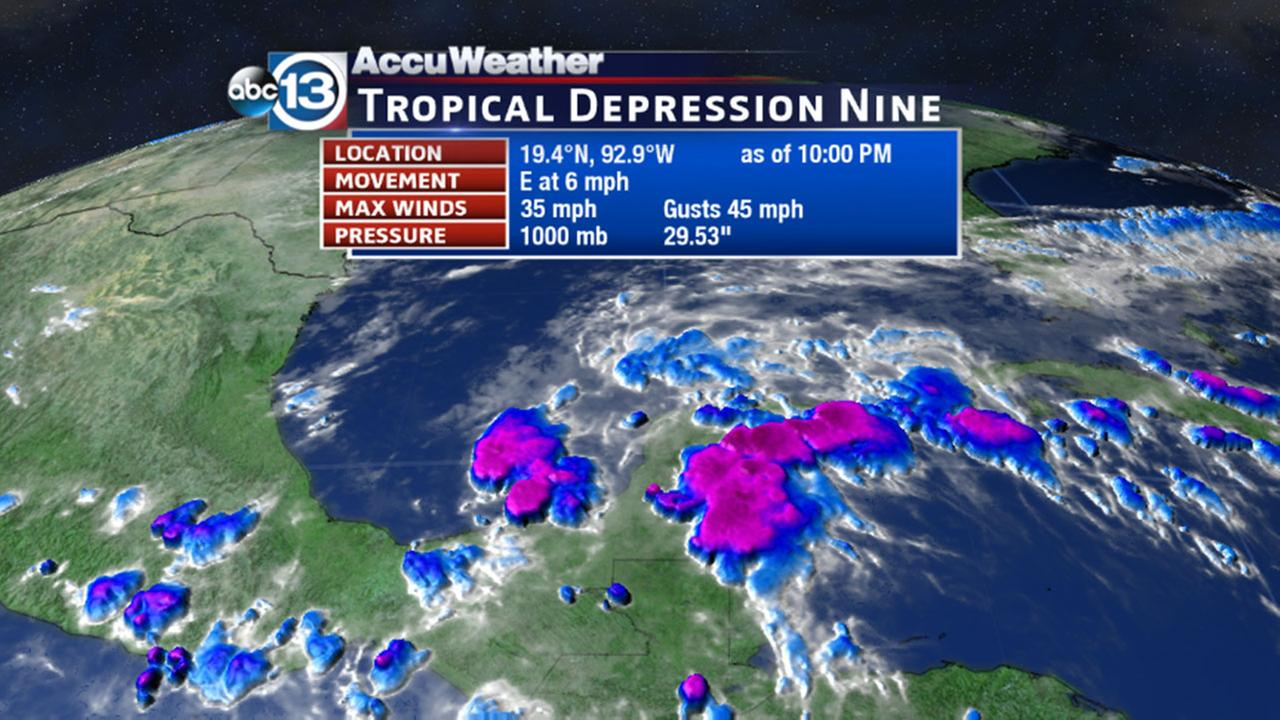 Tropical Depression #9 forms off Mexico's coast