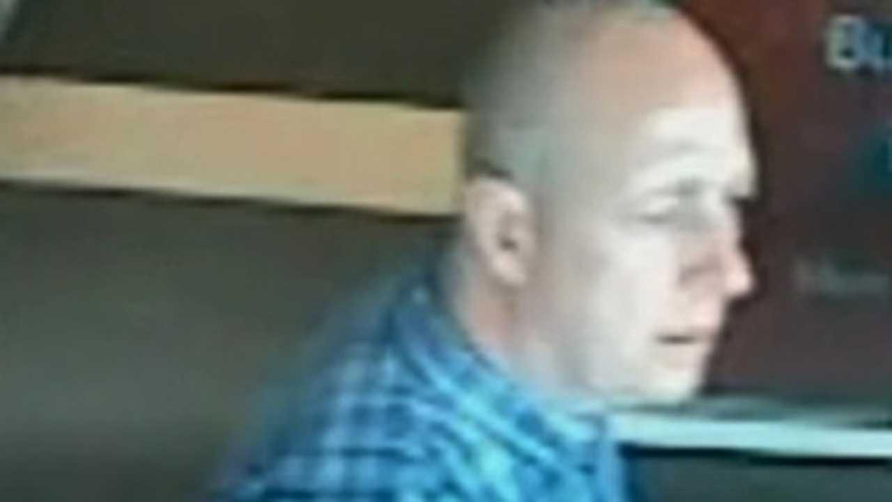 This image made available by South Wales Police shows a video image Alan Knight, in a supermarket in Bishopis Cleeve in western England in June 2014