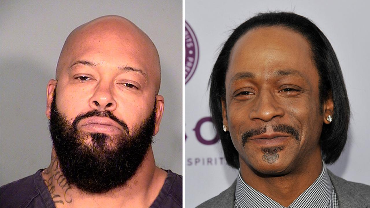Suge Knight, left, and Katt Williams are charged with robbery after they allegedly stole a photographers camera in September.