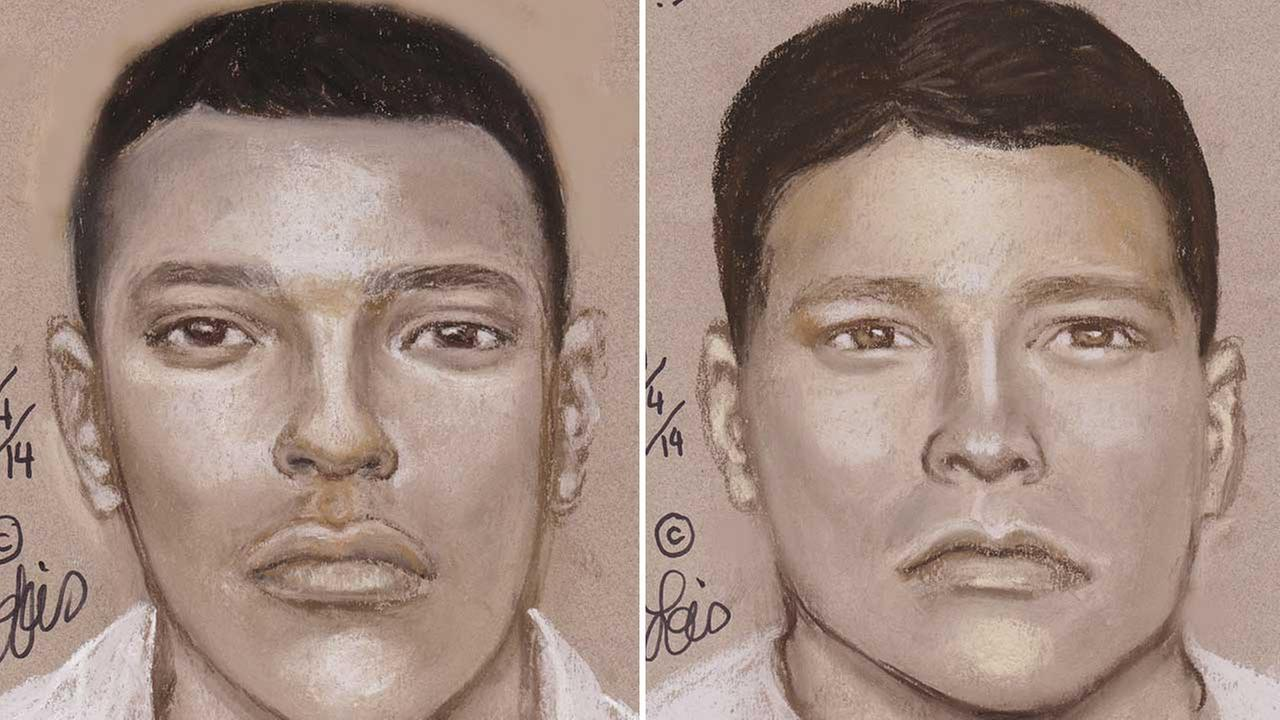 These sketches are of two possible suspects in a west Harris County home invasion