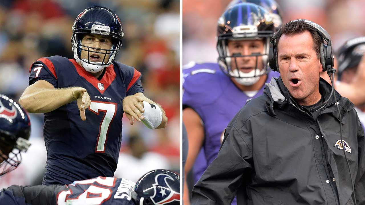 Case Keenum will be back in a Texans uniform, while former Texans coach Gary Kubiak and TE Owen Daniels visit as ravens