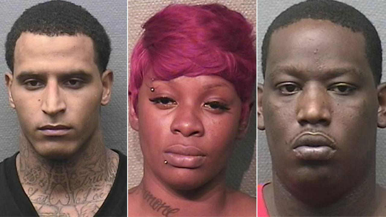 Marcus Ware, Markeshia Deblaw and Raynard Gray are three of the 18 people charged