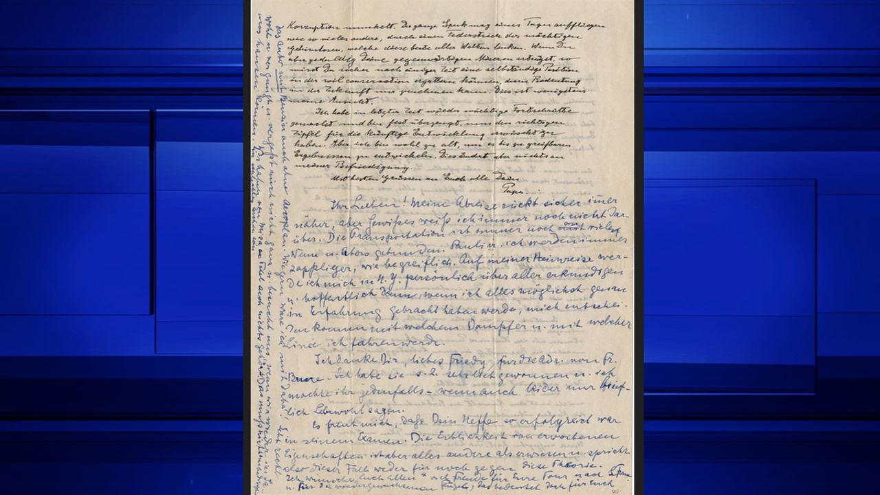 Albert Einstein relativity letter