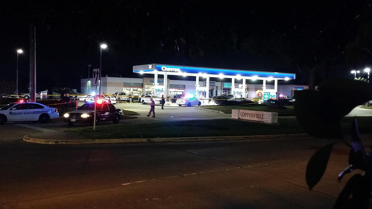A deputy filling up his patrol cars gas tank in northwest Harris County was gunned down without any known motive.