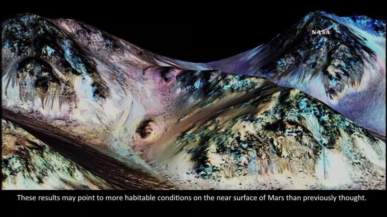 Strong evidence Mars has streams of salt water