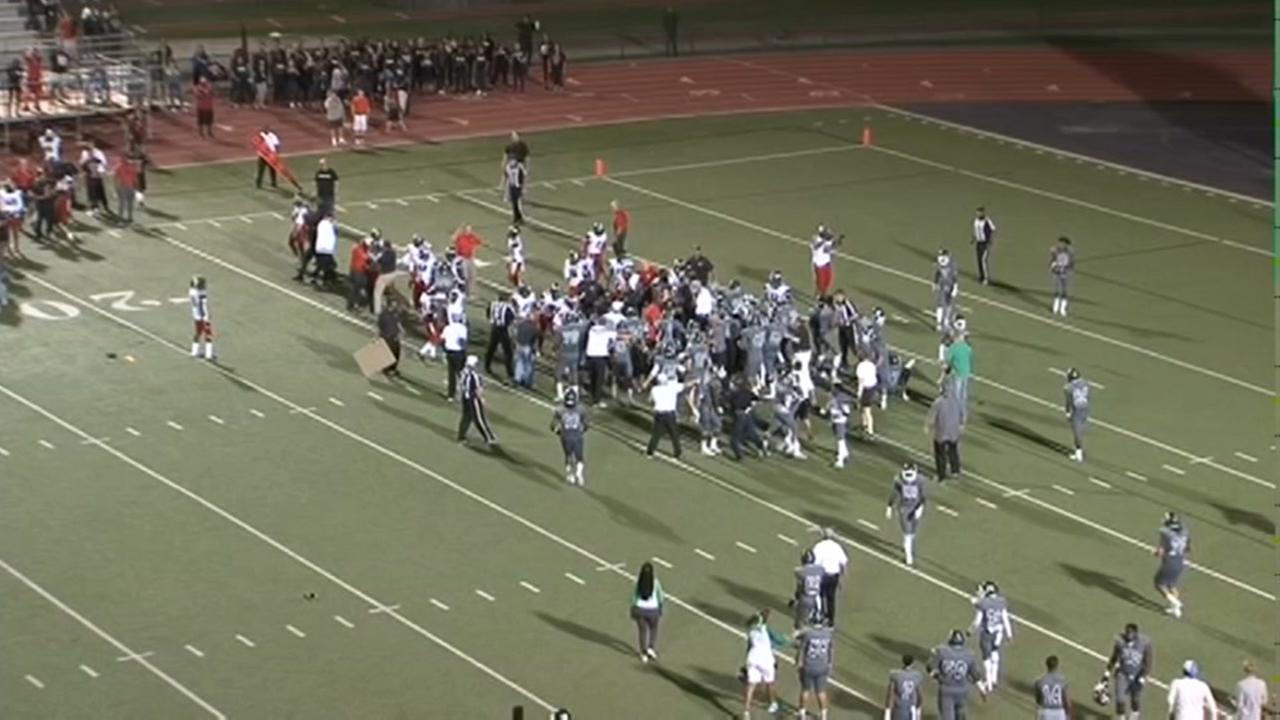 Brawl at high school football game