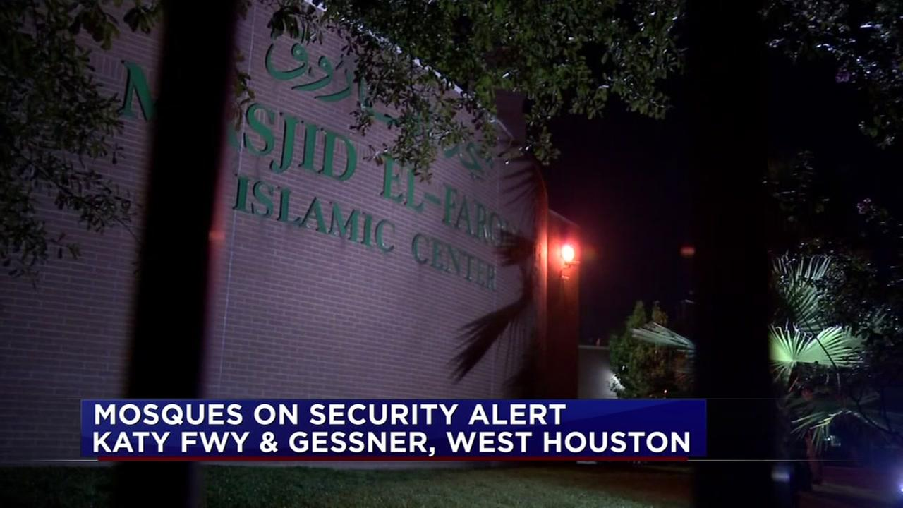 Mosques on security alert