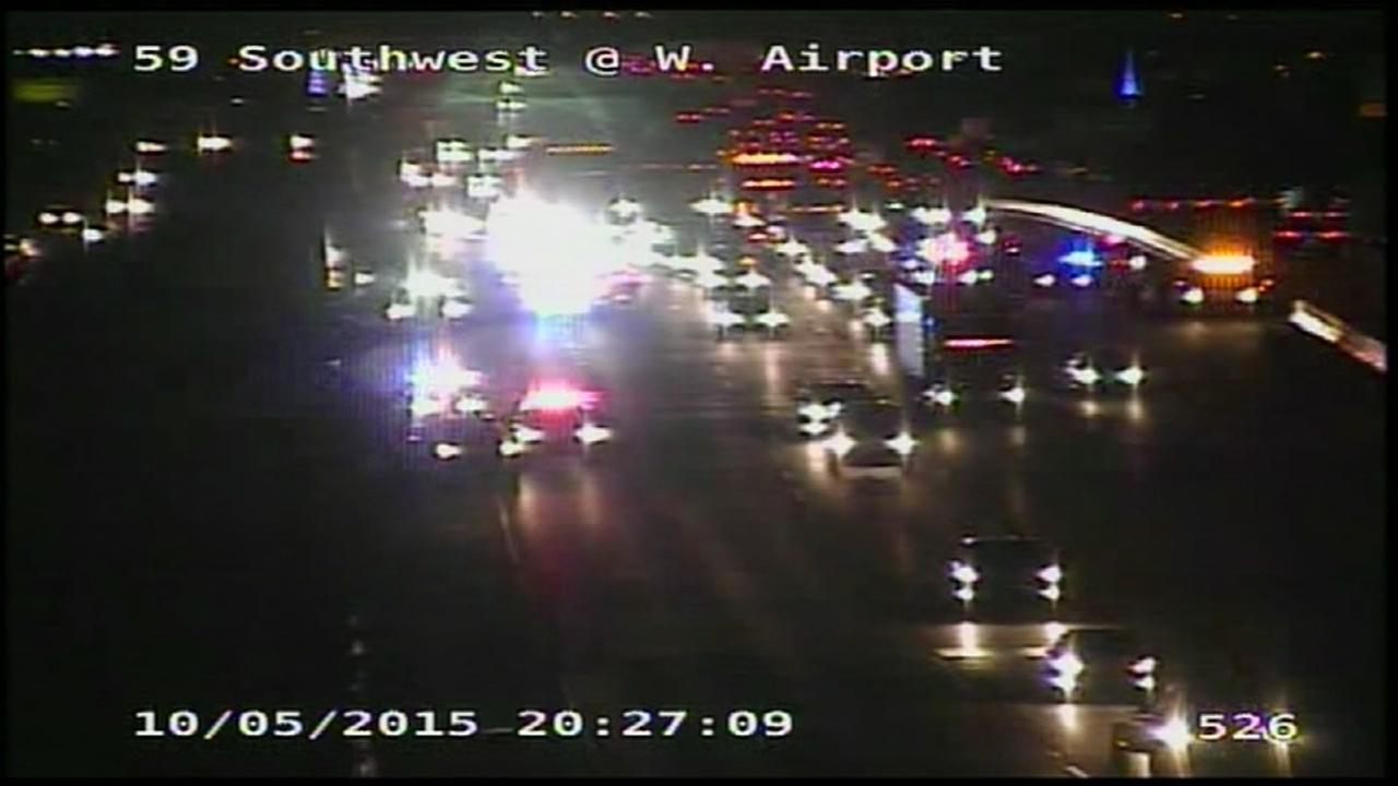 Wreck shuts down all NB lanes of Southwest Freeway at Kirkwood